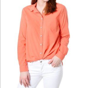 V E L V E T Minnie Button Down in Coral L NWT
